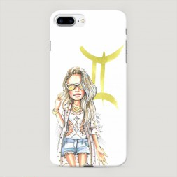 Пластиковый чехол Близнецы образ на iPhone 7 Plus