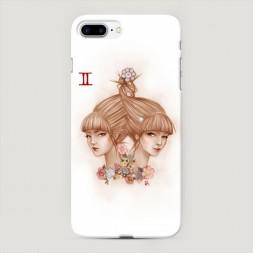 Пластиковый чехол Близнецы прическа на iPhone 7 Plus