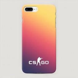 Пластиковый чехол CS logo frade на iPhone 7 Plus