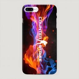Пластиковый чехол CS logo пламя на iPhone 7 Plus