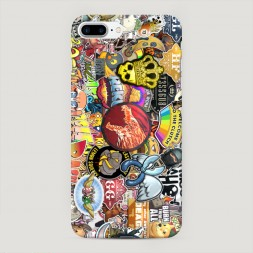 Пластиковый чехол Stickers на iPhone 7 Plus
