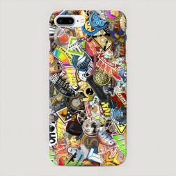 Пластиковый чехол Stikers 2 на iPhone 7 Plus