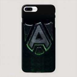 Пластиковый чехол Alliance dota2 зеленый на iPhone 7 Plus