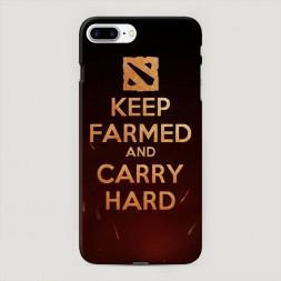 Пластиковый чехол Keep farmed на iPhone 7 Plus