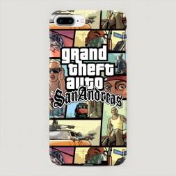 Пластиковый чехол GTA san andreas кадры на iPhone 7 Plus