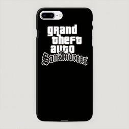 Пластиковый чехол GTA san andreas черный фон на iPhone 7 Plus