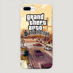 Пластиковый чехол GTA san andreas пейзаж на iPhone 7 Plus