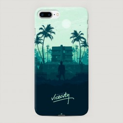 Пластиковый чехол GTA vice city особняк на iPhone 7 Plus