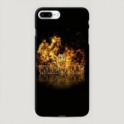 Пластиковый чехол Мир танков в огне на iPhone 7 Plus