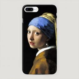 Пластиковый чехол Девушка с жемчужной сережкой на iPhone 7 Plus