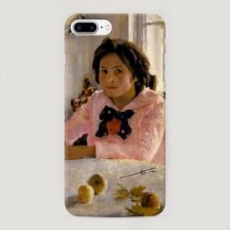 Пластиковый чехол Девочка с персиками на iPhone 7 Plus