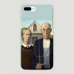 Пластиковый чехол Американская готика на iPhone 7 Plus