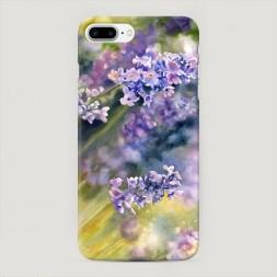 Пластиковый чехол Акварель сиреневые цветы на iPhone 7 Plus