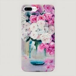 Пластиковый чехол Цветы акварель на iPhone 7 Plus
