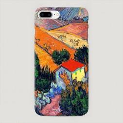 Пластиковый чехол Пейзаж с домом и пахарем на iPhone 7 Plus