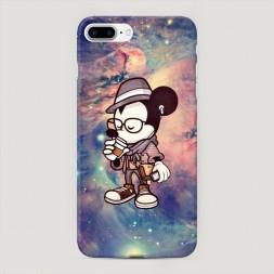 Пластиковый чехол Микки в космосе на iPhone 7 Plus