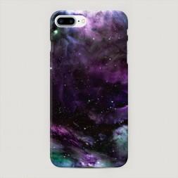 Пластиковый чехол Космос фиолетовый на iPhone 7 Plus