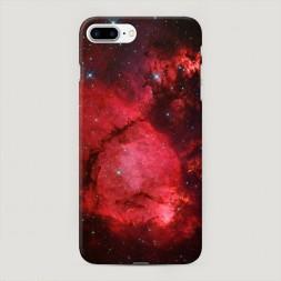 Пластиковый чехол Космос красный на iPhone 7 Plus