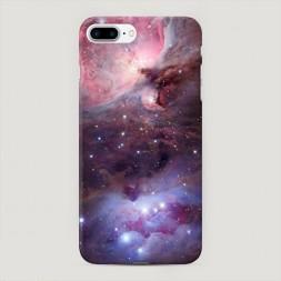 Пластиковый чехол Космос розовый на iPhone 7 Plus