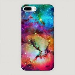 Пластиковый чехол Смешание цвета в космосе на iPhone 7 Plus