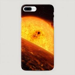 Пластиковый чехол Раскаленное солнце на iPhone 7 Plus