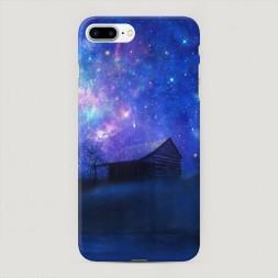 Пластиковый чехол Дом и звездное небо на iPhone 7 Plus