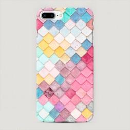 Пластиковый чехол Нежные ромбики на iPhone 7 Plus