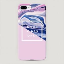 Пластиковый чехол Good Vibes потеки краски на iPhone 7 Plus