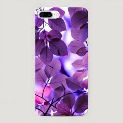 Пластиковый чехол Сиреневые листики на iPhone 7 Plus