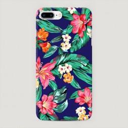 Пластиковый чехол Гавайский принт на iPhone 7 Plus