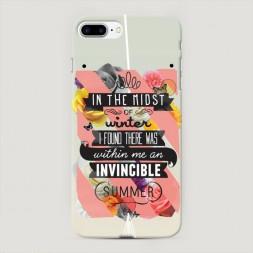 Пластиковый чехол Летний постер на iPhone 7 Plus