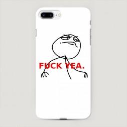 Пластиковый чехол Fuck yea на iPhone 7 Plus