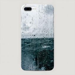 Пластиковый чехол Дождь за стеклом на iPhone 7 Plus