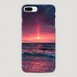 Пластиковый чехол Розовый закат на iPhone 7 Plus