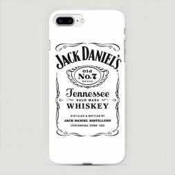 Пластиковый чехол Джек Дэниелс белый на iPhone 7 Plus