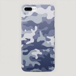 Пластиковый чехол Милитари серый на iPhone 7 Plus