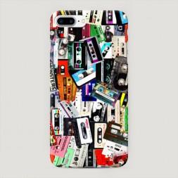 Пластиковый чехол Коллекция кассет на iPhone 7 Plus
