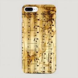 Пластиковый чехол Ноты на iPhone 7 Plus
