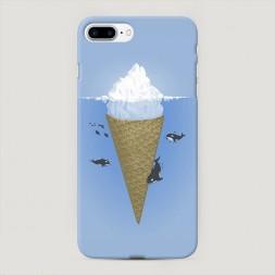 Пластиковый чехол Айсберг на iPhone 7 Plus