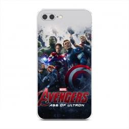 Силиконовый чехол Мстители на iPhone 7 Plus