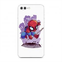 Силиконовый чехол Маленький человек паук на iPhone 7 Plus