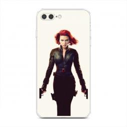 Силиконовый чехол Черная вдова на iPhone 7 Plus
