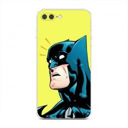 Силиконовый чехол Бэтмен удивлен на iPhone 7 Plus