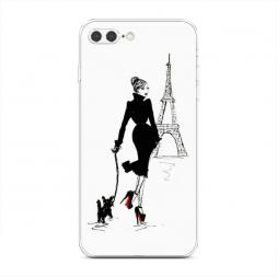 Силиконовый чехол Дама с собачкой на iPhone 7 Plus