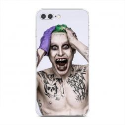 Силиконовый чехол Псих Джокер на iPhone 7 Plus