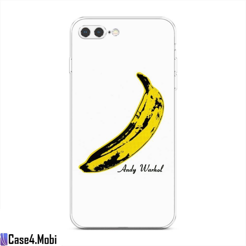 Силиконовый чехол Банан Warhol на iPhone 7 Plus