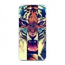 Силиконовый чехол Тигр-крест на iPhone 7 Plus