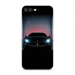 Силиконовый чехол Мазератти в гараже на iPhone 7 Plus