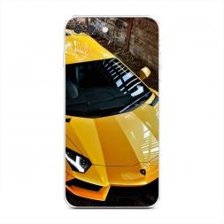 Силиконовый чехол Ламборгини желтый на iPhone 7 Plus