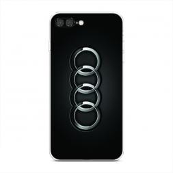 Силиконовый чехол Ауди значок на iPhone 7 Plus